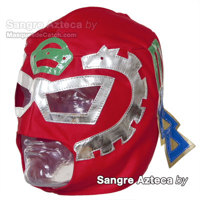 """Sangre Azteca"" Mexican Wrestling Mask"