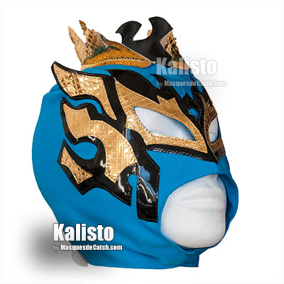 """Kalisto"" Wrestling Kid Mask - Blue & Gold colors"