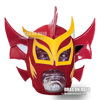"""Dragon Rojo"" wrestling lucha libre Mask in Fabric"