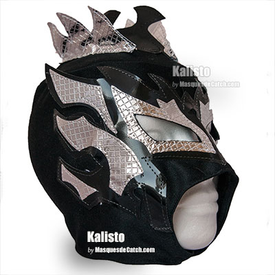 "Kalisto"" Wrestling Mask for Kids  - Black and Siver"