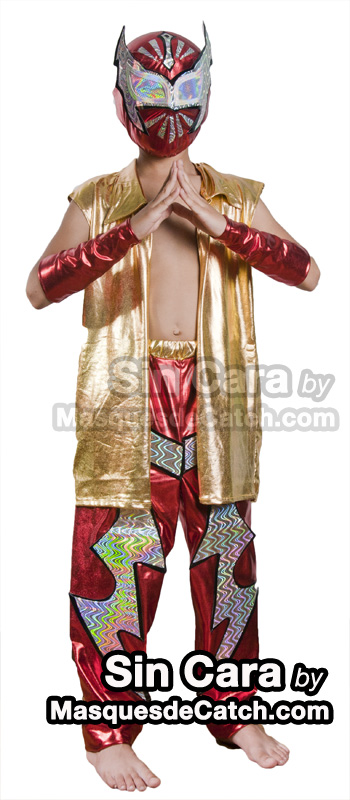 Kids Sin Cara Costume outfits & pants Red