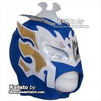 """Kalisto"" Wrestling Kid Mask - Blue, Gold & Silver colors"
