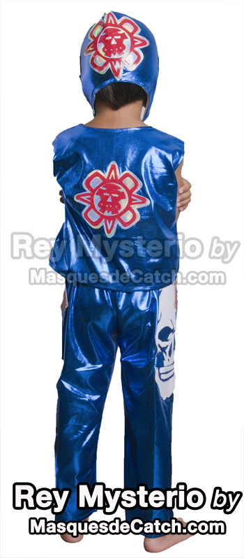 Kids Rey Mysterio Costume outfits & pants blue