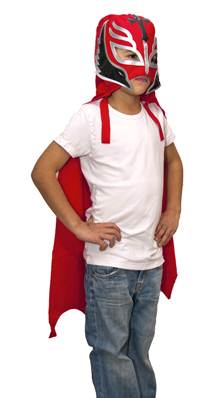 Rey Mysterio  Wrestling Cape for Child -  Red