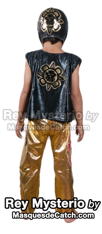 Kids Rey Mysterio Costume outfits & pants Black & Gold