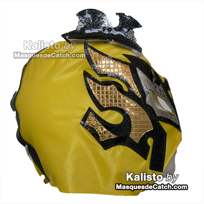 """Kalisto"" Wrestling Mask for Kids - Yellow"