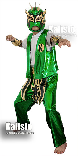 Kalisto Kid Costume in green color