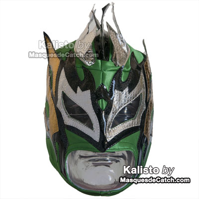 """Kalisto"" Wrestling Mask - Adults Uni-size - Green Color"