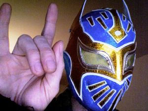 Gain  a Sin Cara mask with MaskedWrestlers.com and our Facebook page