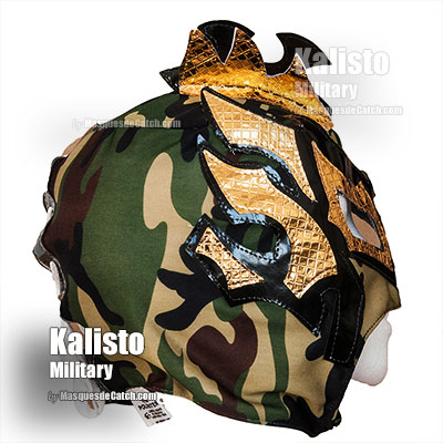 """Kalisto Military"" Wrestling Kid Mask - Lucha Dragons - Camouflage Color - Limited edition"
