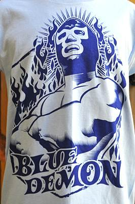 Lucha Libre T-shirt Blue Demon