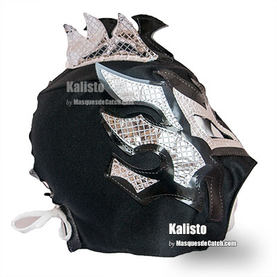 """Kalisto"" Kid Wrestling Mask- Black and Silver Color"