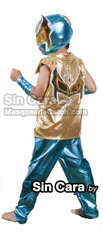 Kids Sin Cara Costume outfits & pants blue