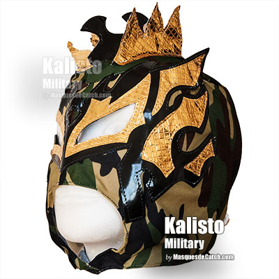 """Kalisto Military"" Wrestling Kid Mask - Lucha Dragons - Camouflage Color"